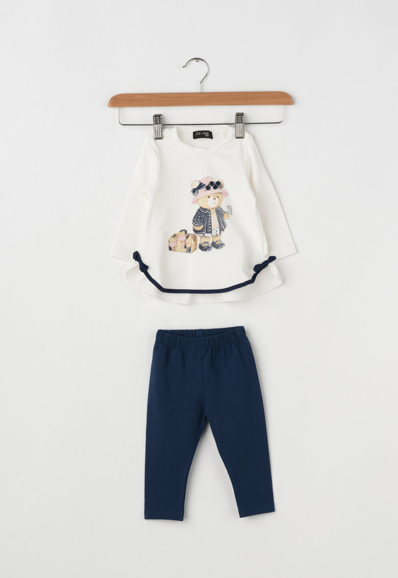 Zee Lane Kids Set de bluza si colanti cu imprimeu grafic