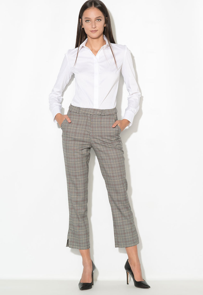 Zee Lane Collection Pantaloni cu model in carouri