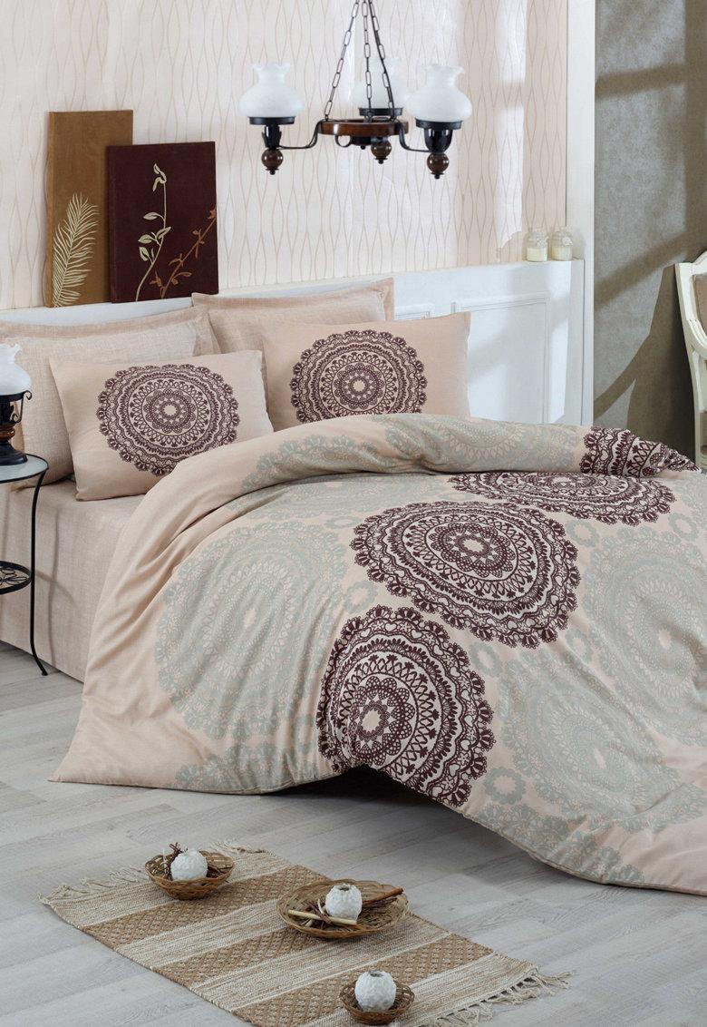 Set de pat din bumbac ranforce Figura de la Leunelle