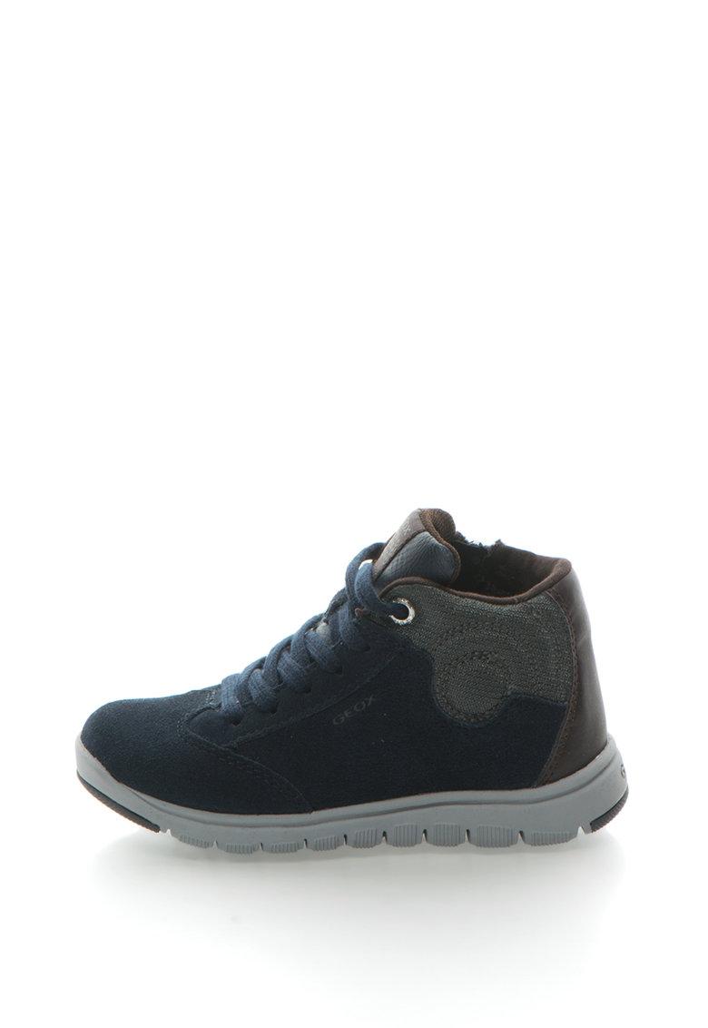 Geox Pantofi sport de piele intoarsa cu brant din spuma cu memorie Xunday