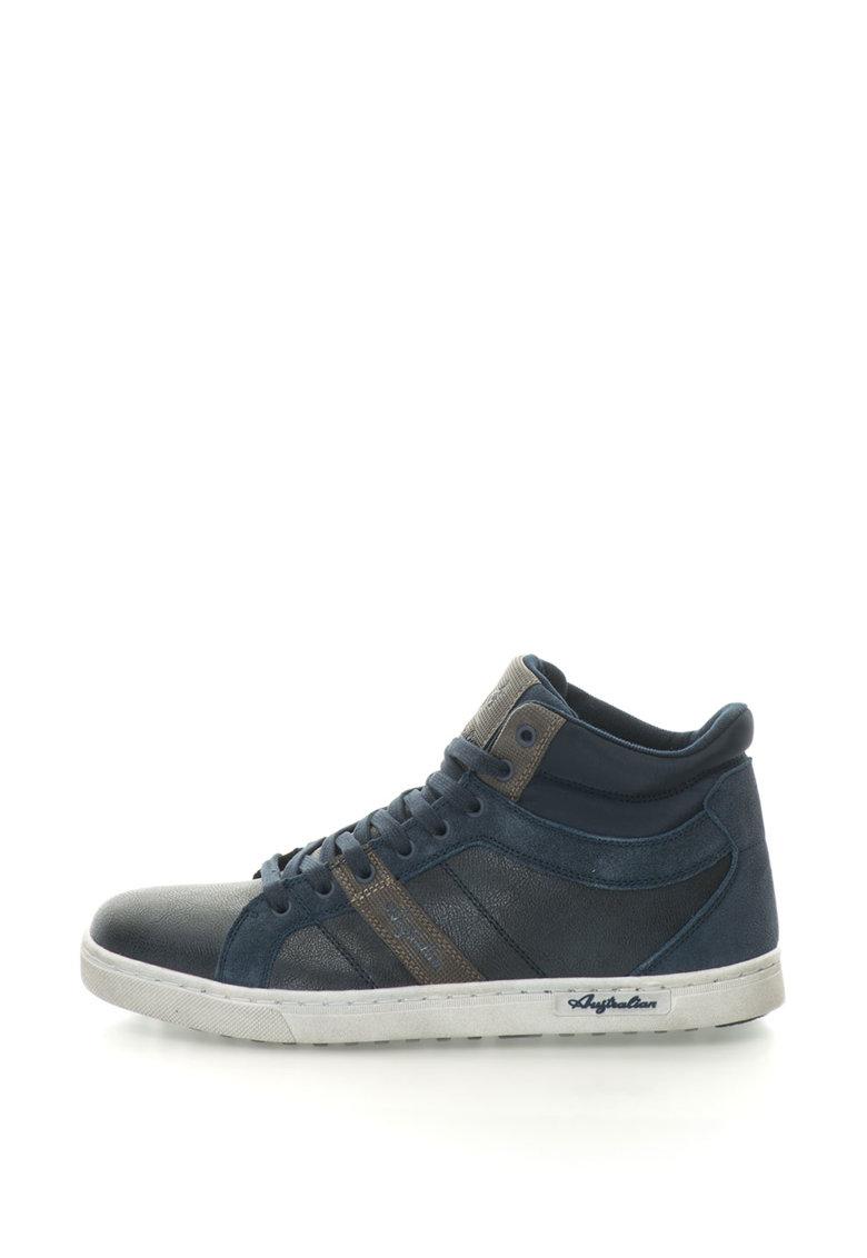Pantofi Sport Mid-high Cu Insertii De Piele Intoarsa