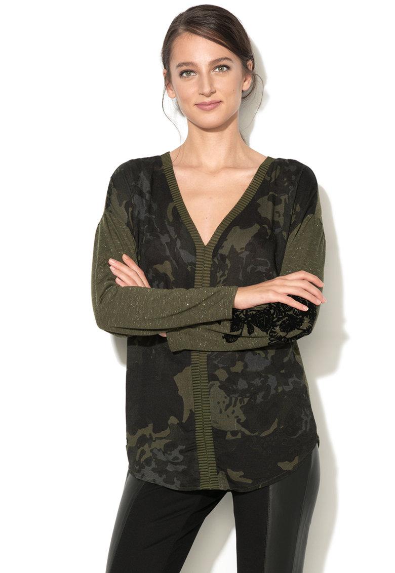 DESIGUAL Bluza cu imprimeu camuflaj