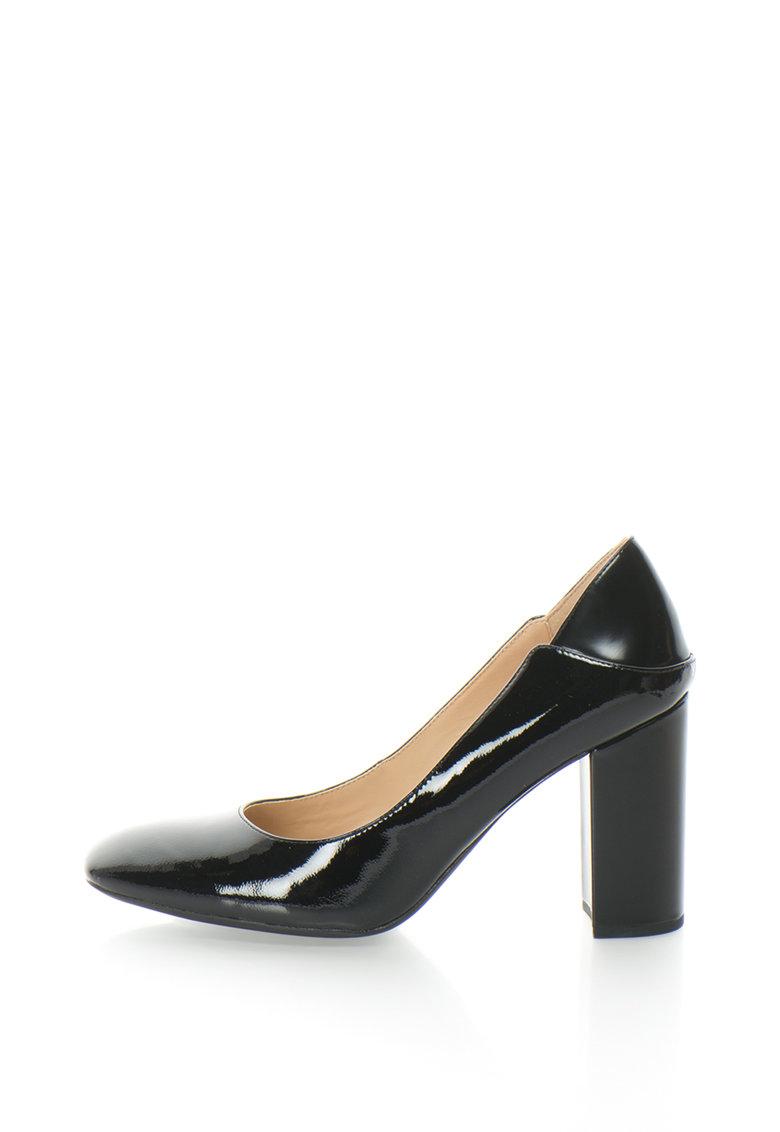 Pantofi cu toc inalt si varf patrat Symphony de la Geox