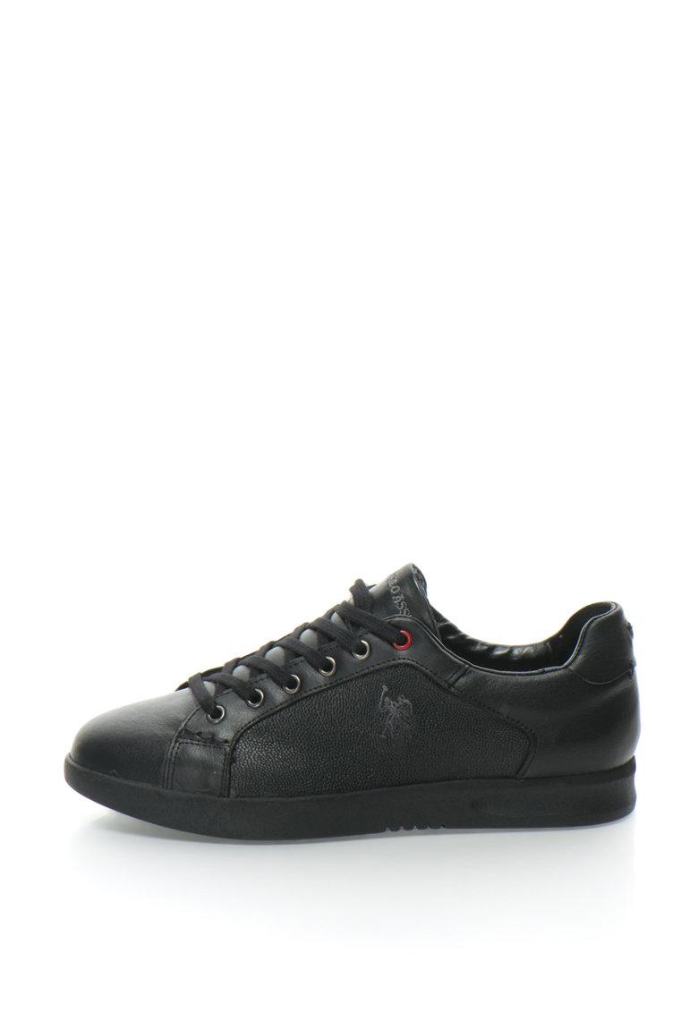 US Polo Assn Pantofi sport de piele cu insertii texturate Raymond