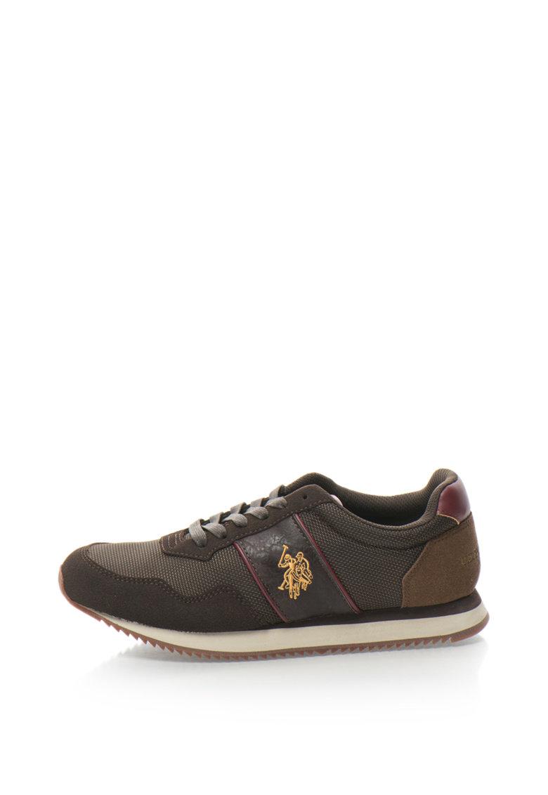 US Polo Assn Pantofi sport cu garnituri din material textil Aspen