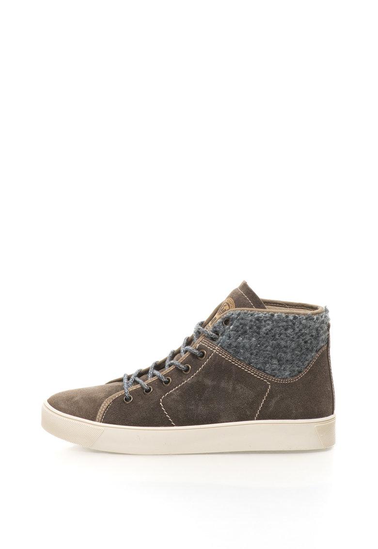 Napapijri Pantofi sport mid-high de piele intoarsa cu garnituri de lana Minna
