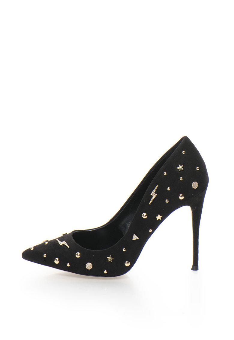 Pantofi cu toc inalt si aplicatii metalice Aleni de la Aldo