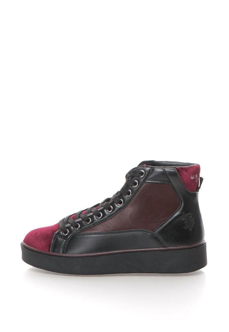 US Polo Assn Pantofi sport mid-high cu garnituri din catifea Sandra