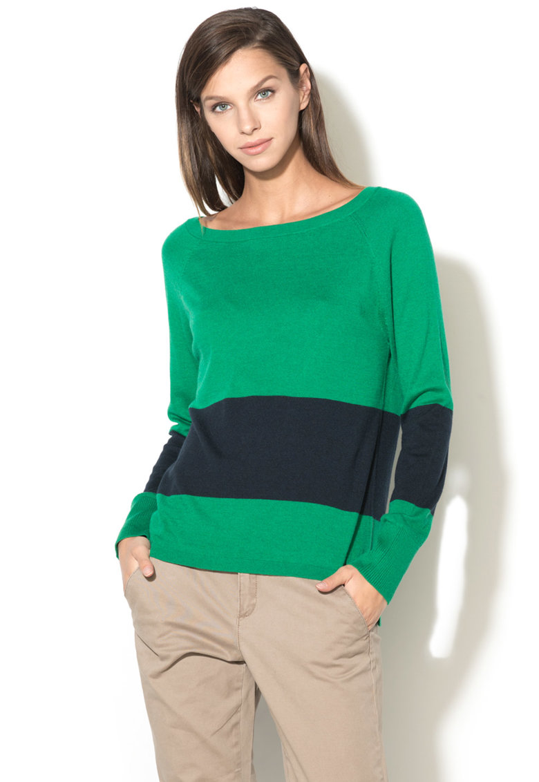 United Colors of Benetton Bluza cu slituri laterale