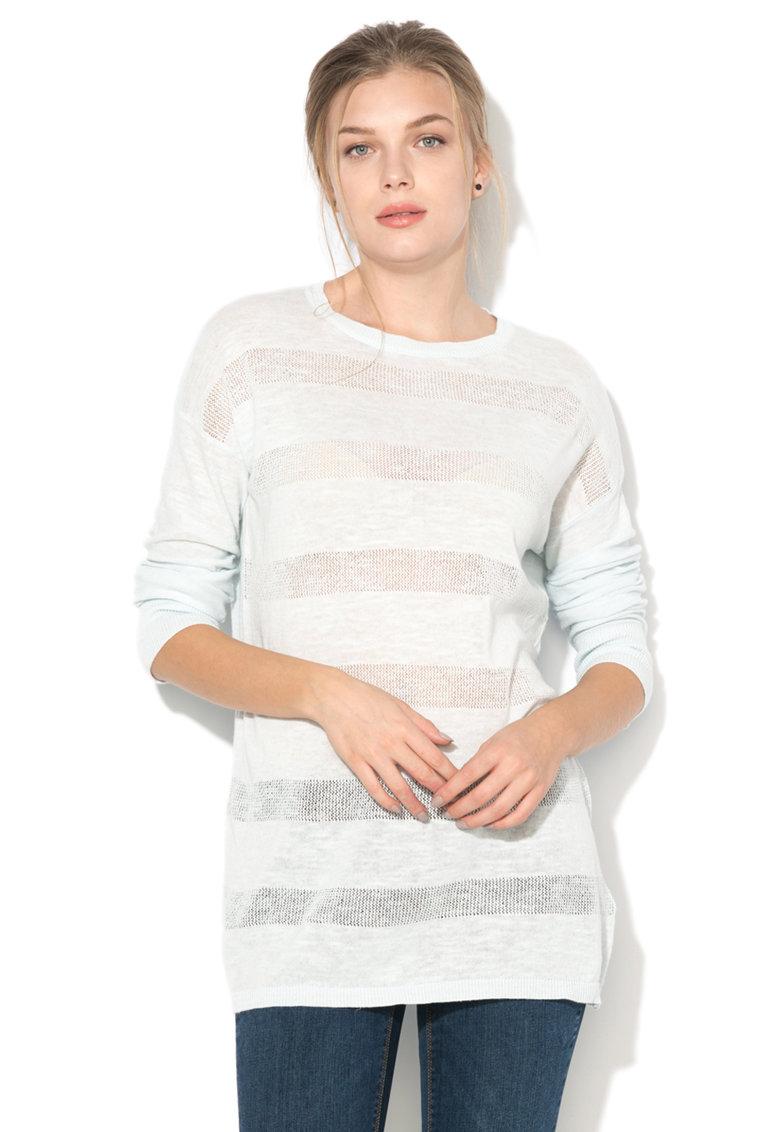 Vero Moda Bluza tricotata fin cu detalii perforate si maneci lungi Nynne