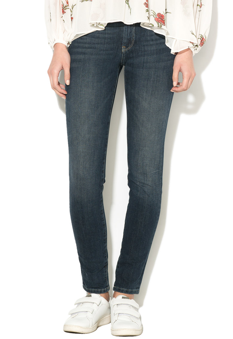 Blugi skinny cu aspect decolorat Pixie de la Pepe Jeans London