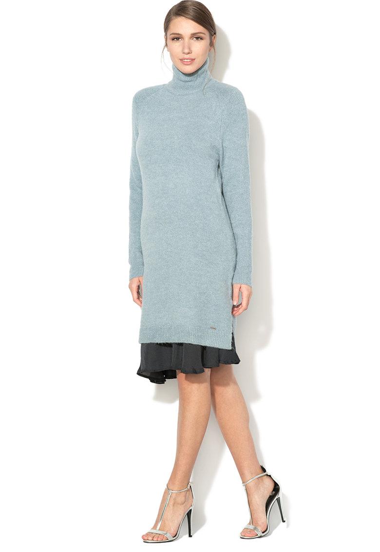 Rochie tip pulover cu guler inalt Amanda de la Pepe Jeans London