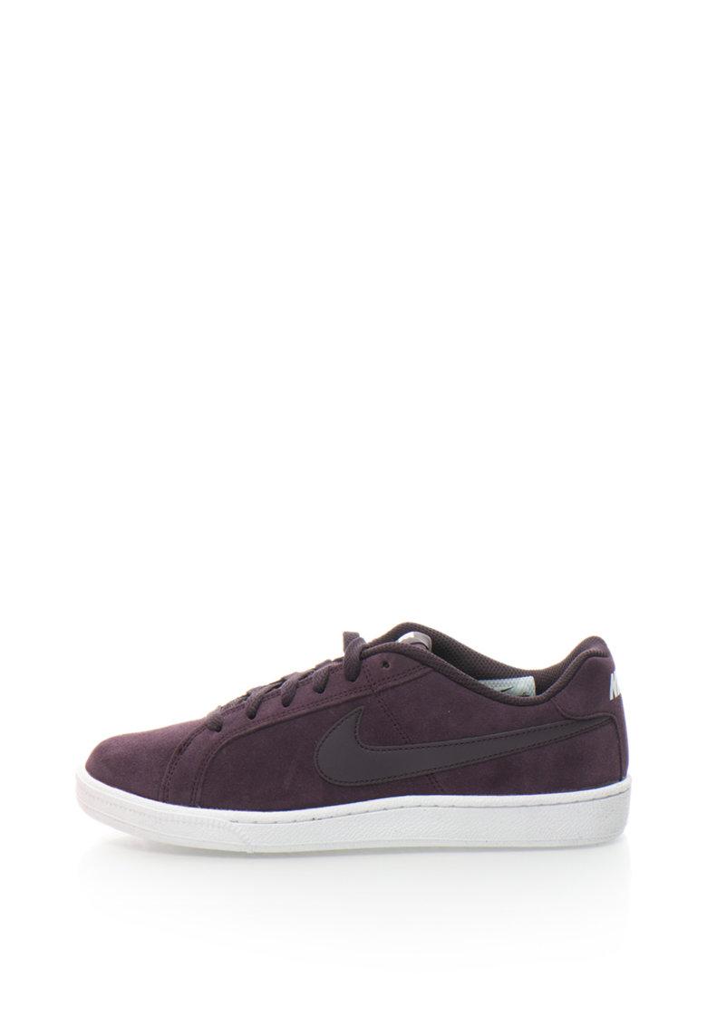 Nike Pantofi sport de piele intoarsa Court Royale