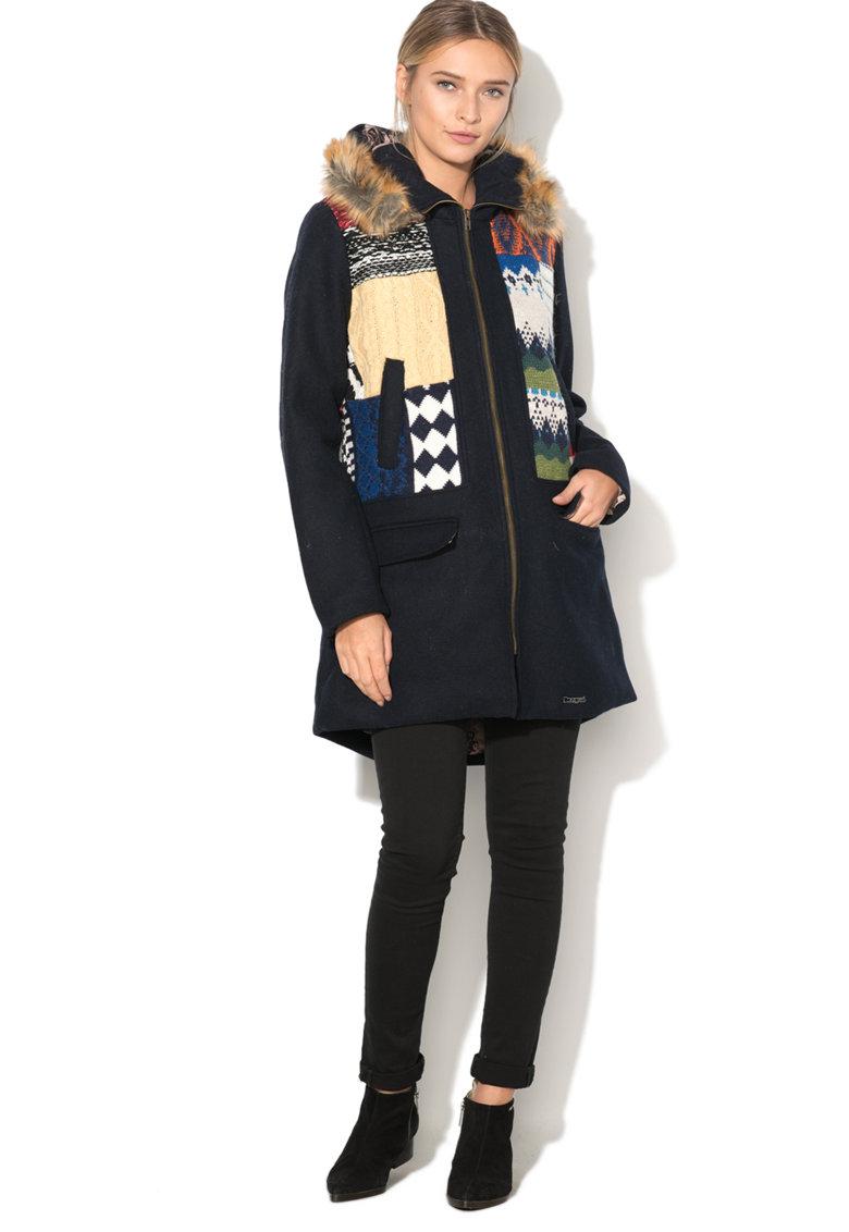 DESIGUAL Haina cu gluga si garnituri tricotate Sheila
