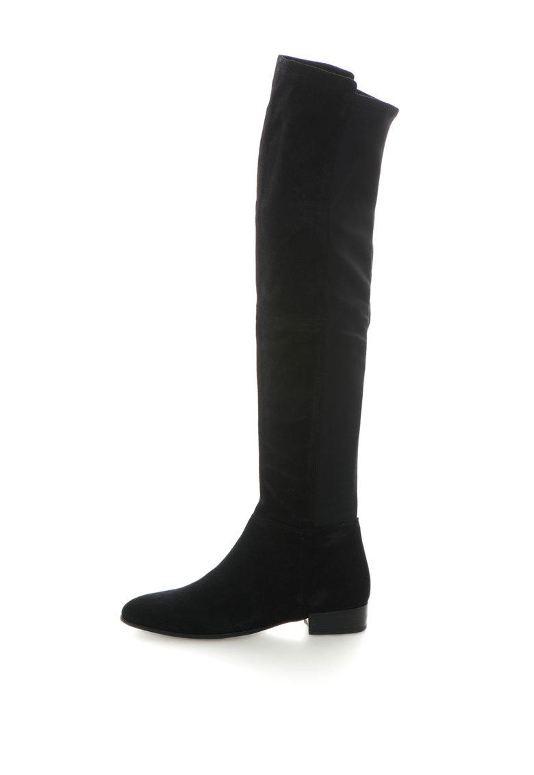 Vagabond Cizme inalte deasupra genunchiului cu insertii de piele intoarsa