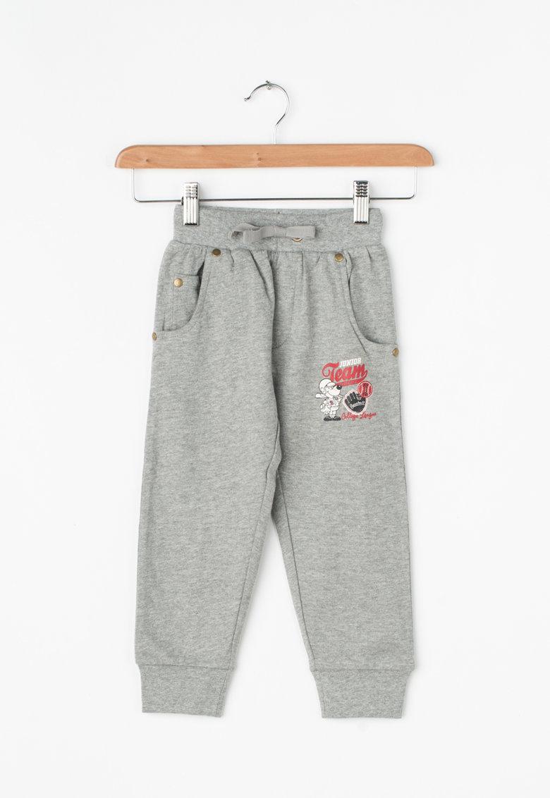 Zee Lane Kids Pantaloni sport cu imprimeu grafic