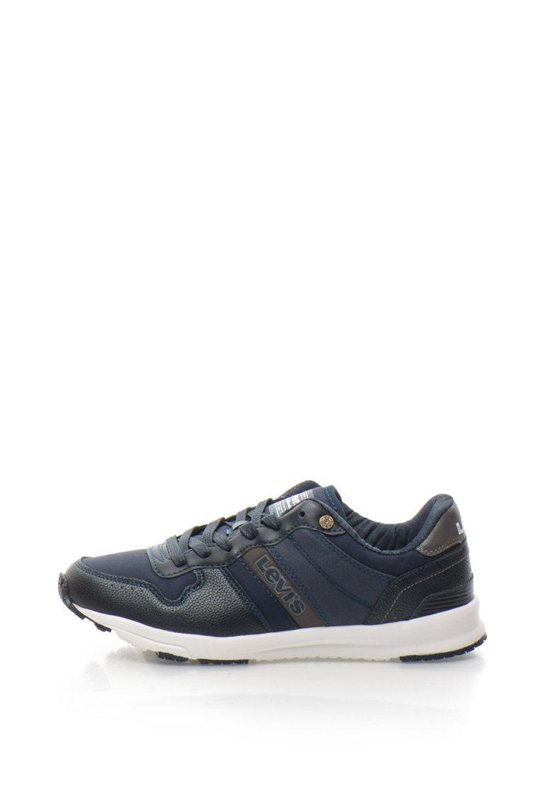 Levis Pantofi sport din piele sintetica si material textil