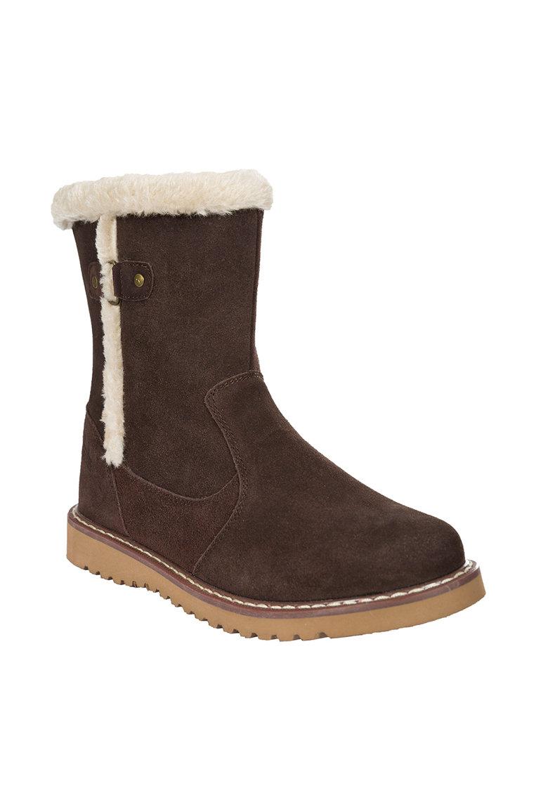Cizme de iarna de piele intoarsa cu garnituri de blana sintetica Lockwood