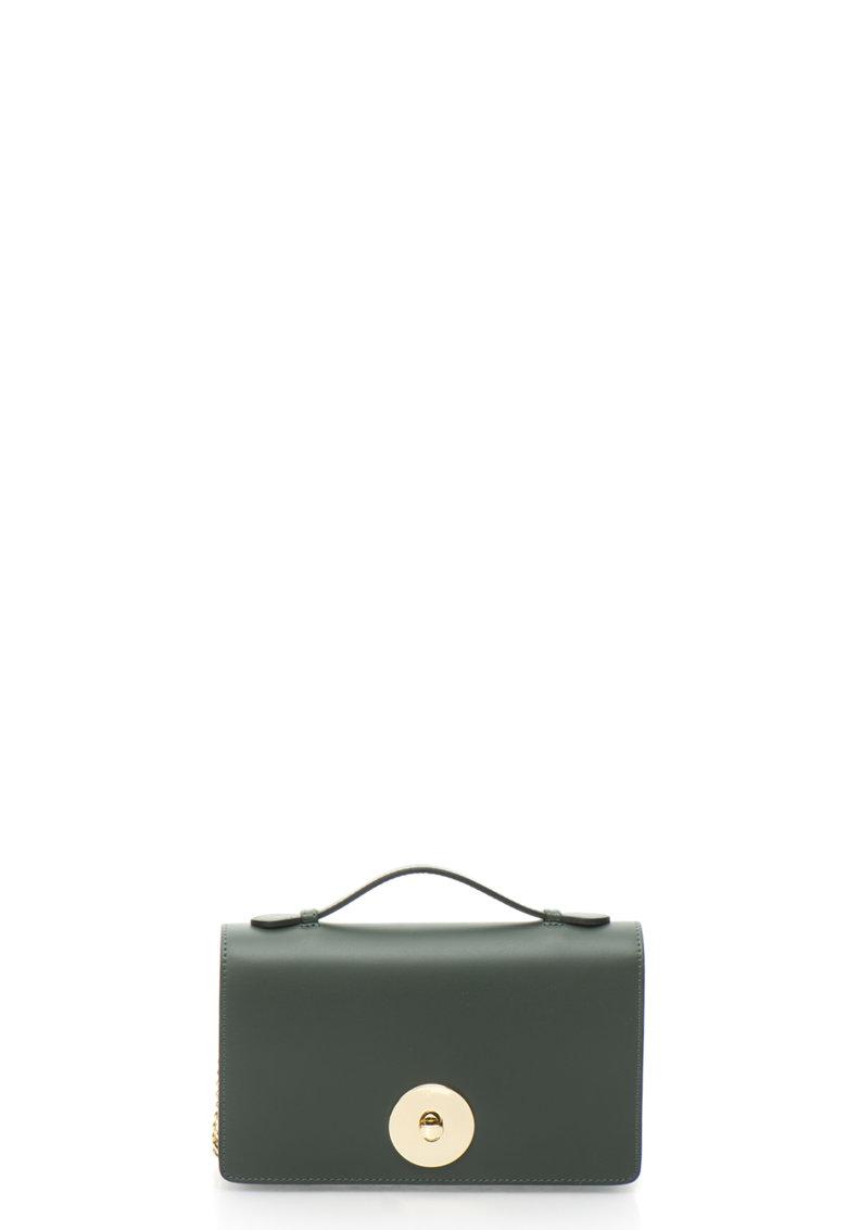 Geanta mica de piele cu bareta din lant convertibila