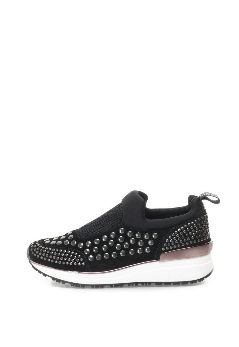 Pantofi sport slip-on cu aplicatii metalice de la Liu Jo