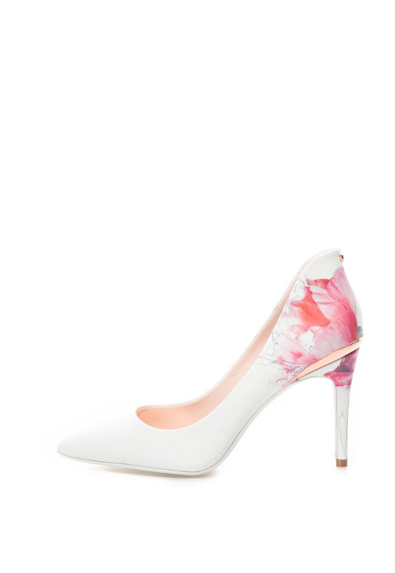 Ted Baker Pantofi de piele cu toc inalt si imprimeu floral