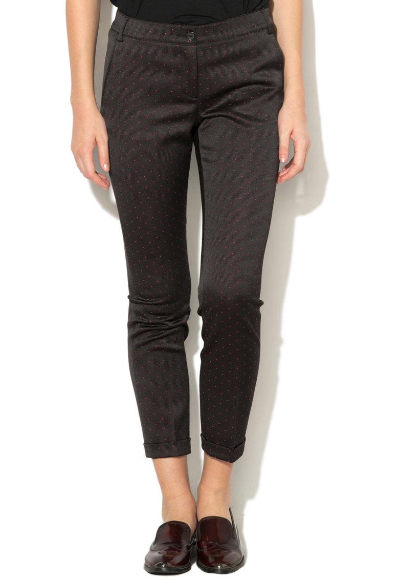 Pantaloni texturati cu buzunare si terminatii pliate Landau de la Pennyblack