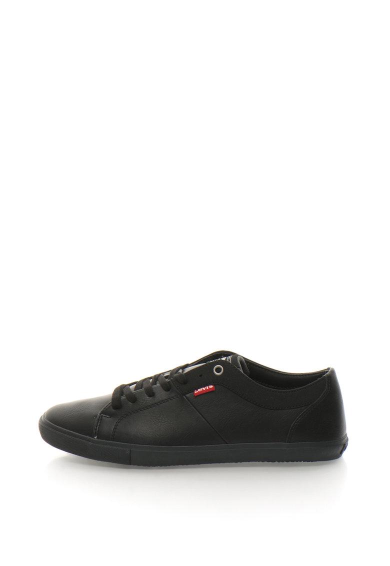 Pantofi sport de piele sintetica cu garnitura texturata