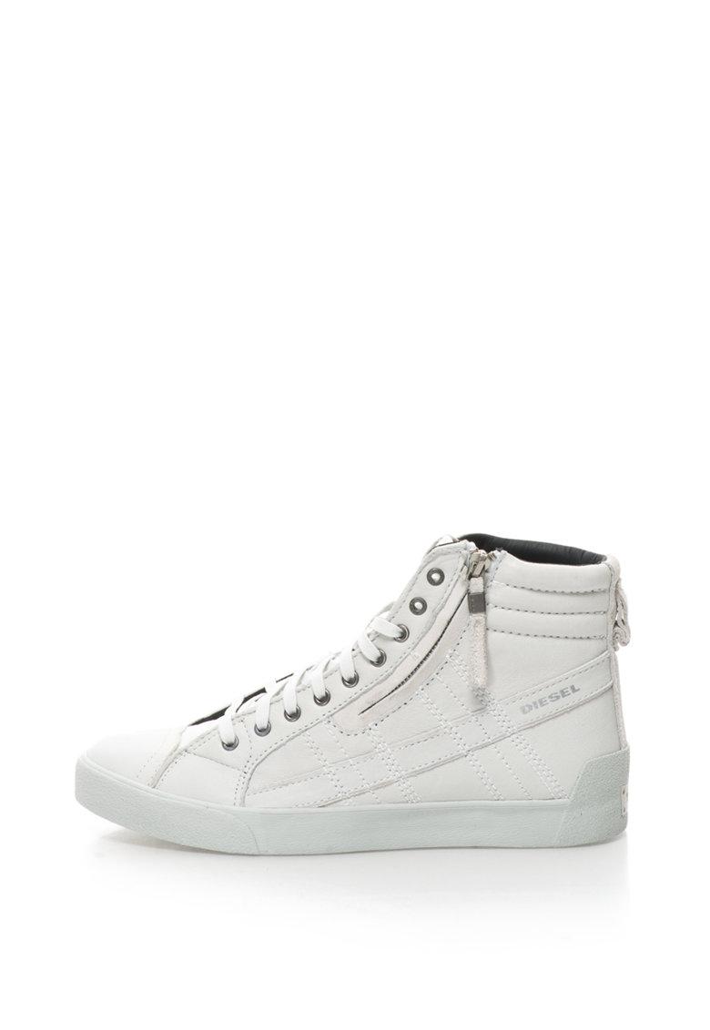 Pantofi sport mid high din piele si piele intoarsa D-String Plus
