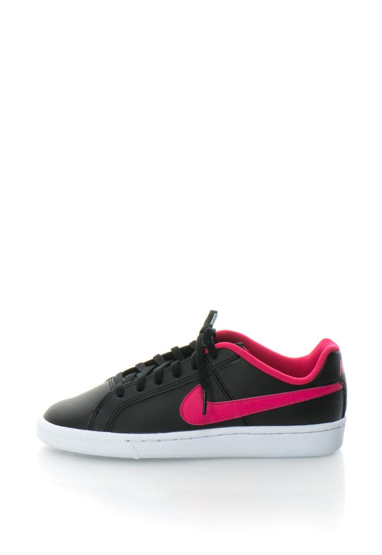 Nike Pantofi sport de piele cu garnituri contrastante Court Royale