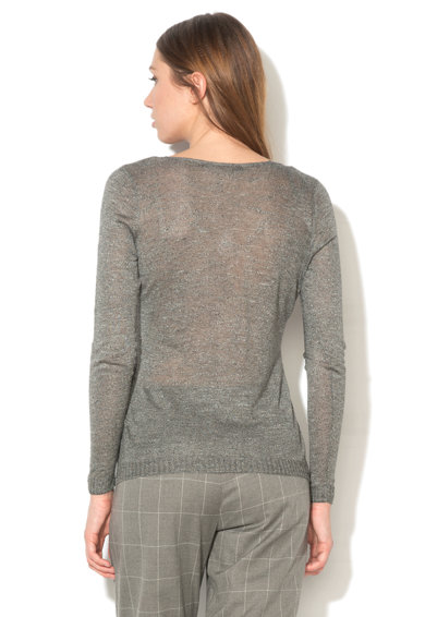 Only Bluza gri inchis melange tricotata fin Lucinda Femei