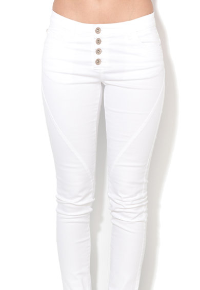 Big Star Pantaloni slim fit crop albi Merida Femei