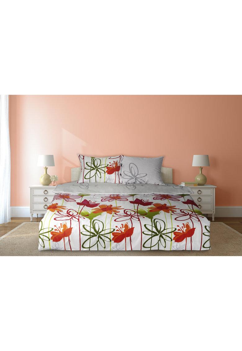 Set de pat cu design floral - 4 piese - Multicolor thumbnail