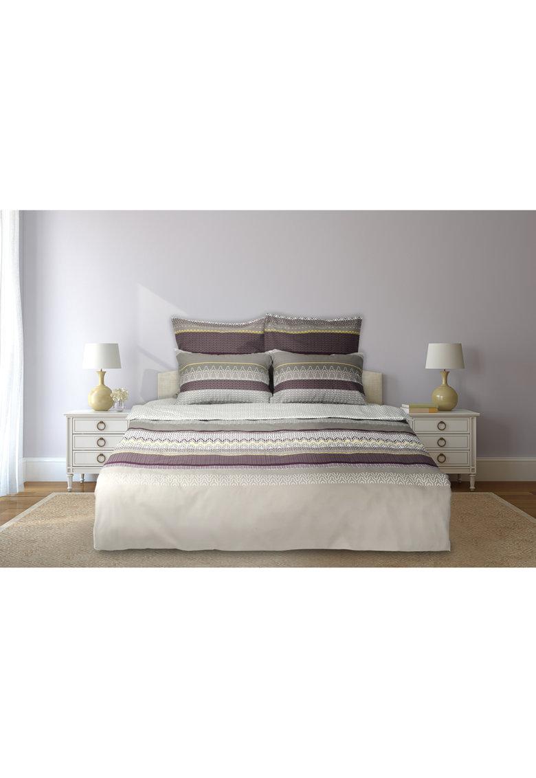 Set de pat cu imprimeu geometric - 6 piese - Multicolor thumbnail