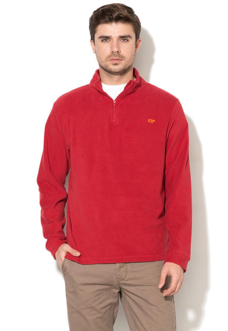 Bluza sport din fleece cu guler cu fermoar thumbnail