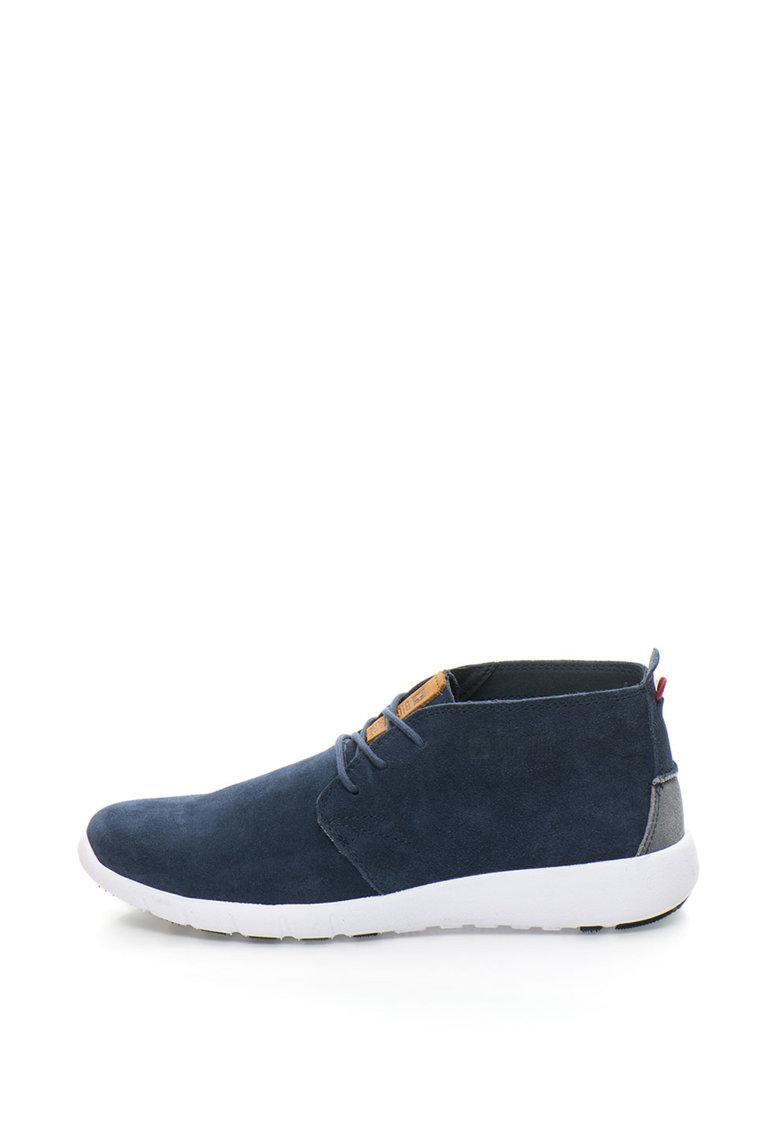 Pantofi sport chukka de piele intoarsa cu logo lateral thumbnail