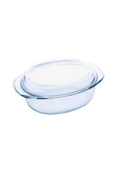 Caserola ovala din sticla cu capac de la VABENE