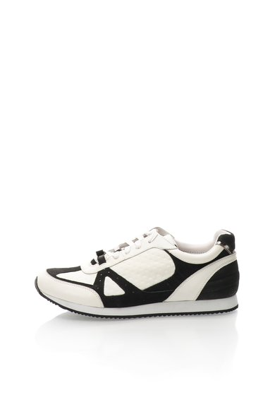Pantofi sport negri cu alb de piele Jeni