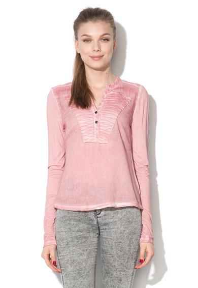 Bluza tip tunica roz prafuit cu aspect decolorat de la Cream