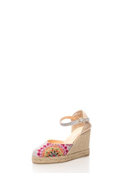 FashionDays.ro: Sandale wedge cu imprimeu floral Vicky Desigual