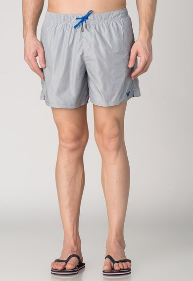 Pantaloni scurti de baie bleumarin cu alb in dungi de la Emporio Armani