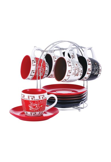 Set de cani de cafea cu suport – 13 piese de la VABENE
