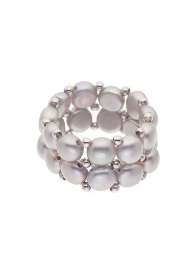 Inel ajustabil cu doua siraguri de perle de la Perles Addict