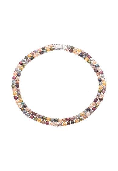 Perles Addict Colier multicolor cu 2 siraguri de perle