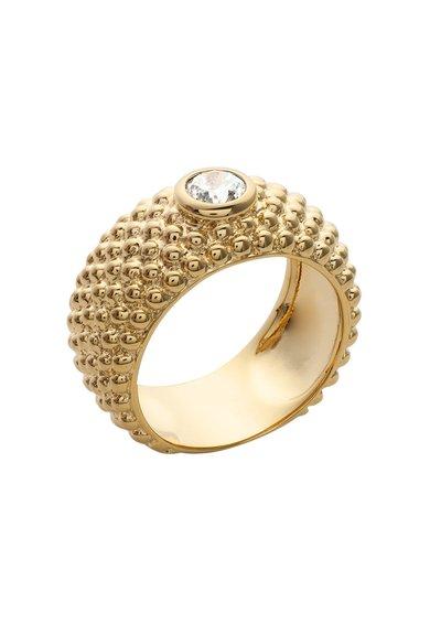 Inel auriu cu model in relief Chic de la LAtelier Parisien