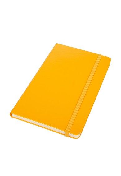 Carnetel galben chihlimbar cu pagini albe dictando de la Moleskine