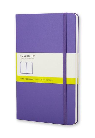 Carnetel violet bizantin cu pagini albe veline de la Moleskine