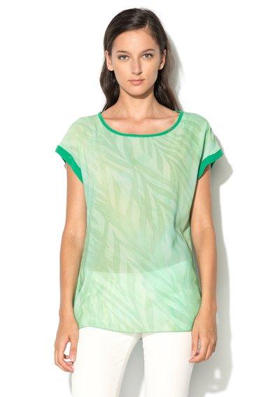 Bluza lejera verde cu imprimeu Linted de la GAS