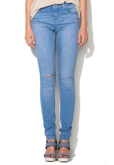 Jeansi skinny bleu Slash de la New Look