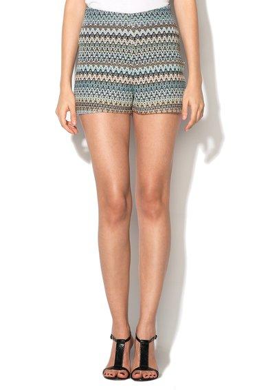 New Look Pantaloni scurti multicolori crosetati Zigzag