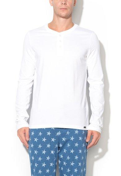 Bluza alba cu nasturi Recreate Sleep de la Skiny